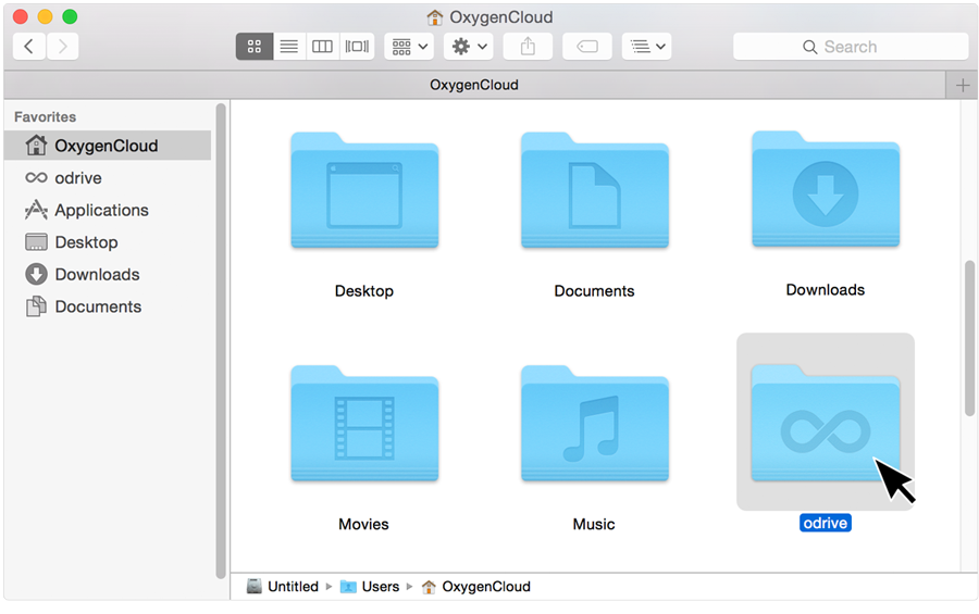 odrive is a folder found in your /user root