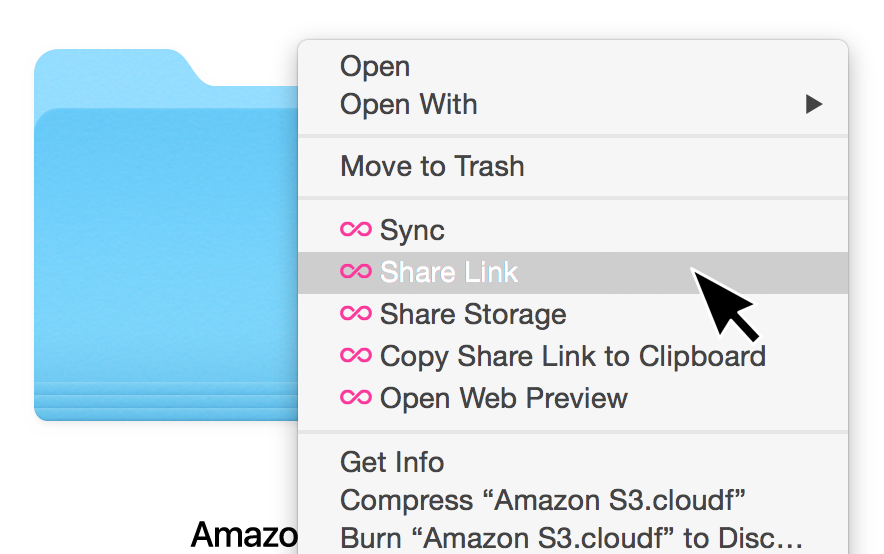 Share any file or folder from the desktop