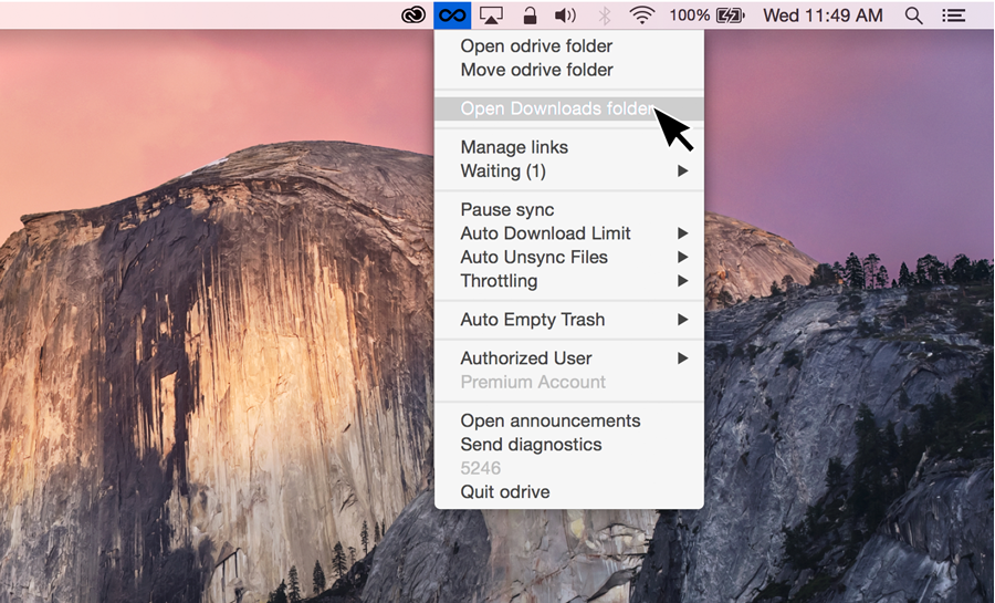 Shortcuts to all your Synced folders in tray