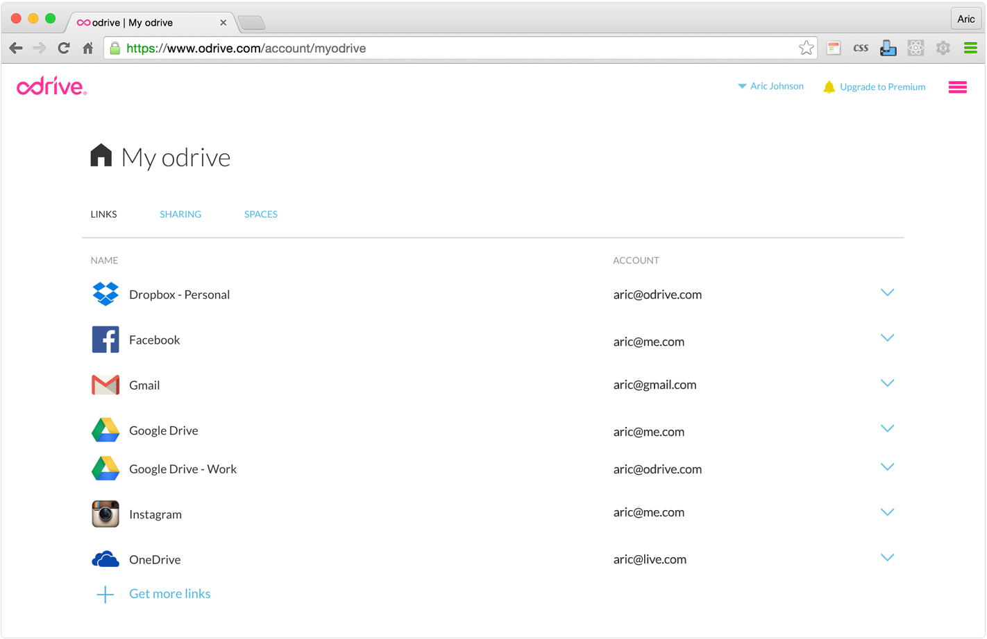 View of multiple Google Drives linked